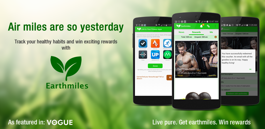 I love the new Earthmiles app! Earn exclusive rewards from