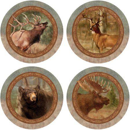 Thirstystone Drink Coasters Series, Wildlife Quartet, Multicolor