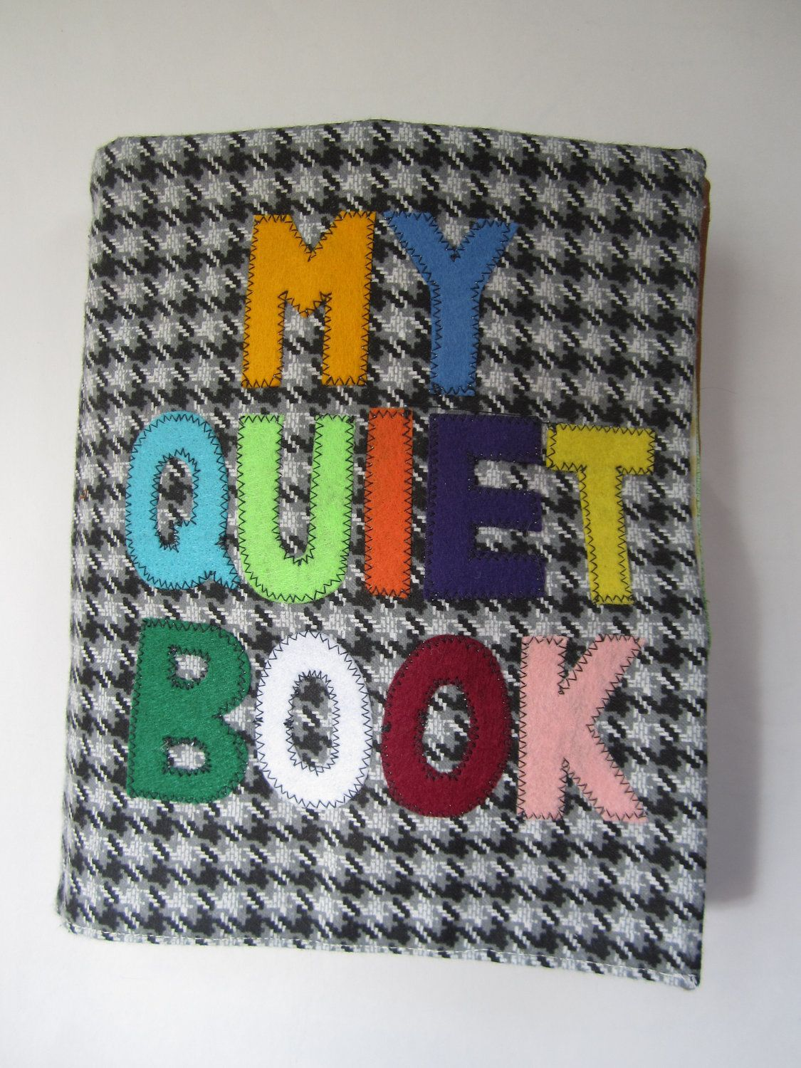 Quiet book - sturdy fabric activities to keep toddlers busy - custom made. $110.00, via Etsy.