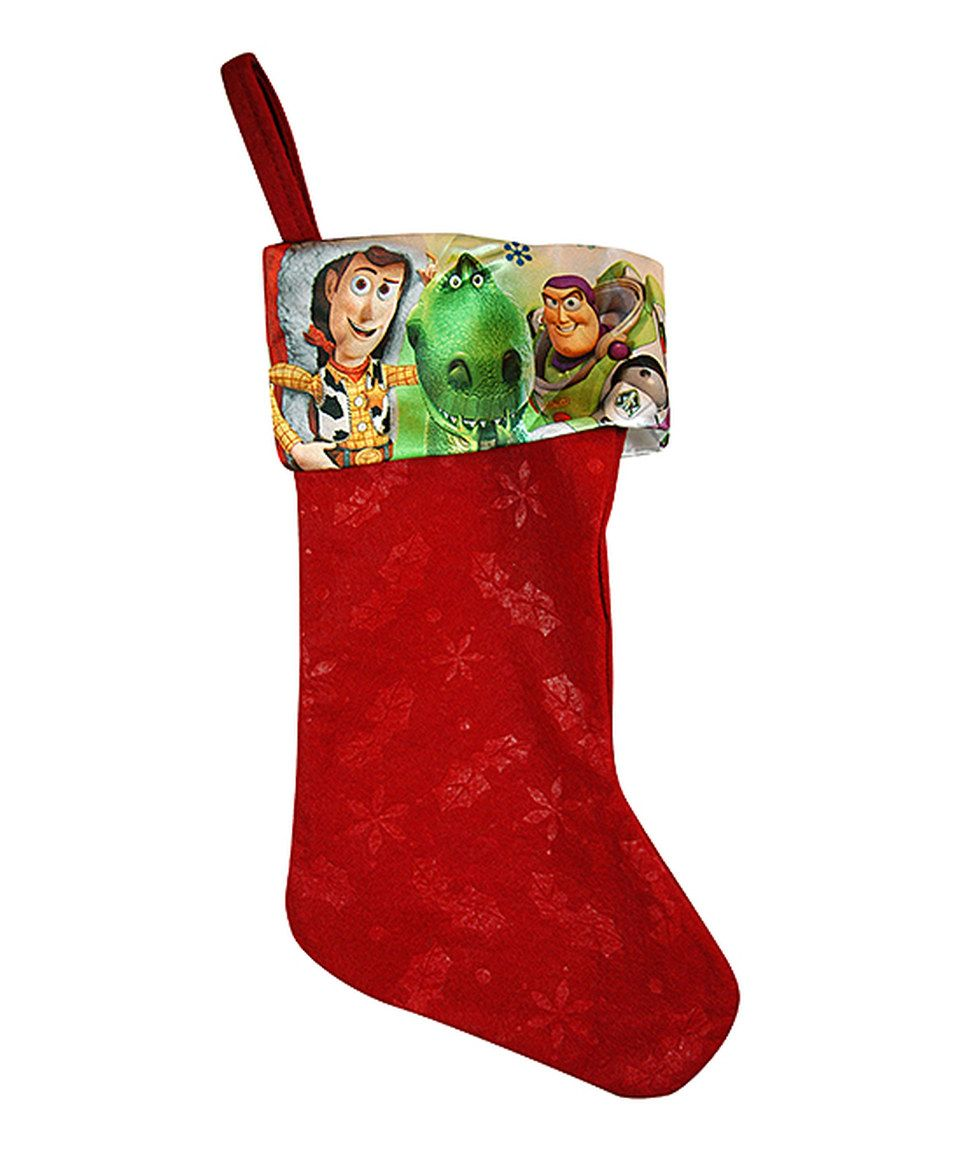 Uncategorized Christmas Stocking Story look at this zulilyfind red toy story christmas stocking by pixar zulilyfinds