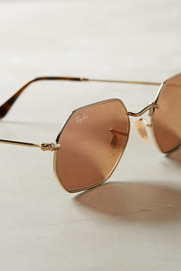 Ray-Ban Hexagonal Mirrored Sunglasses   Styling tips   Lunettes de ... 4158698c643f