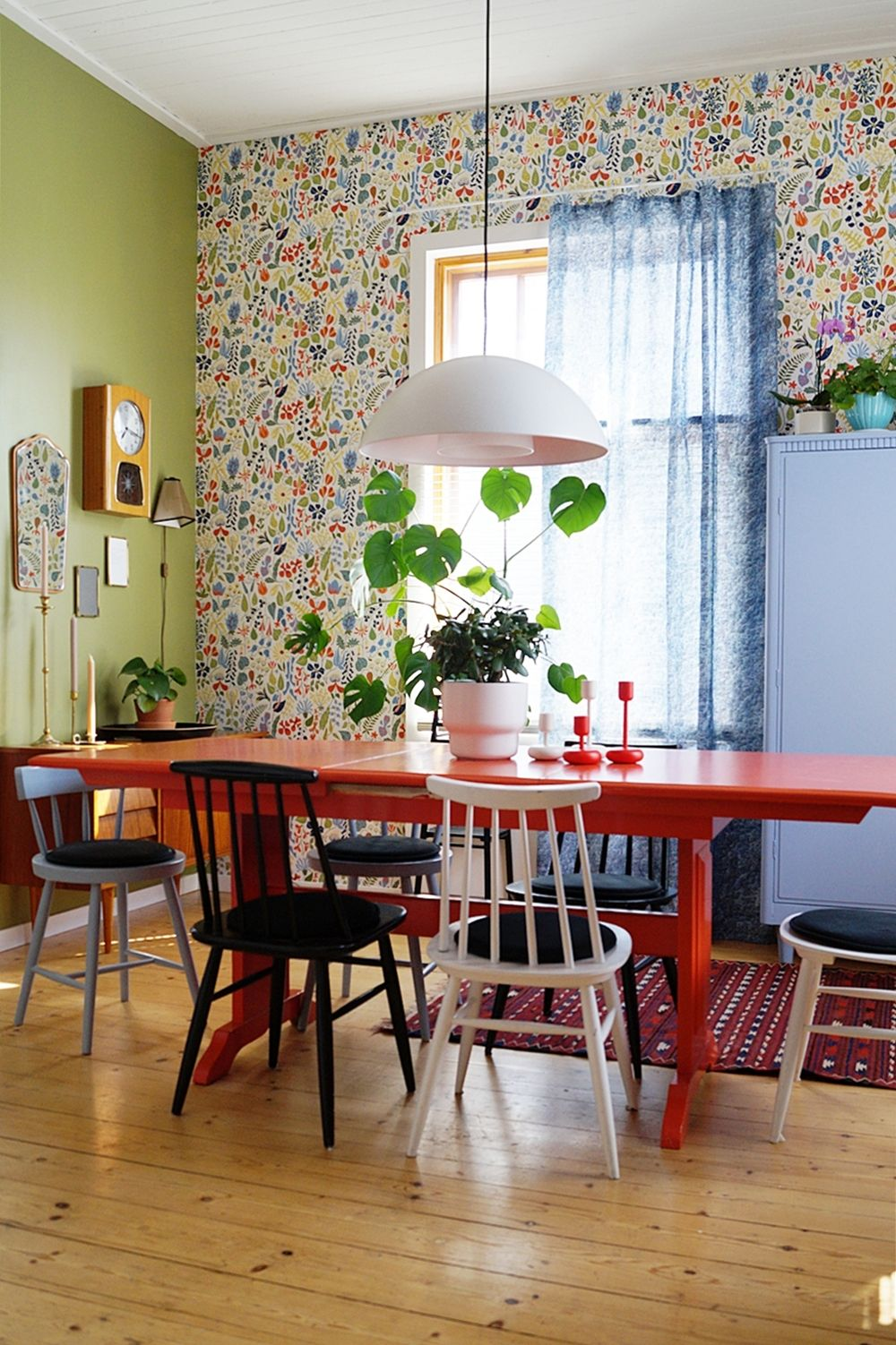 renovating old furniture. Dining Room, Renovation, Green Wall, Old Furnitures, Teak Sideboard, House Renovating Furniture