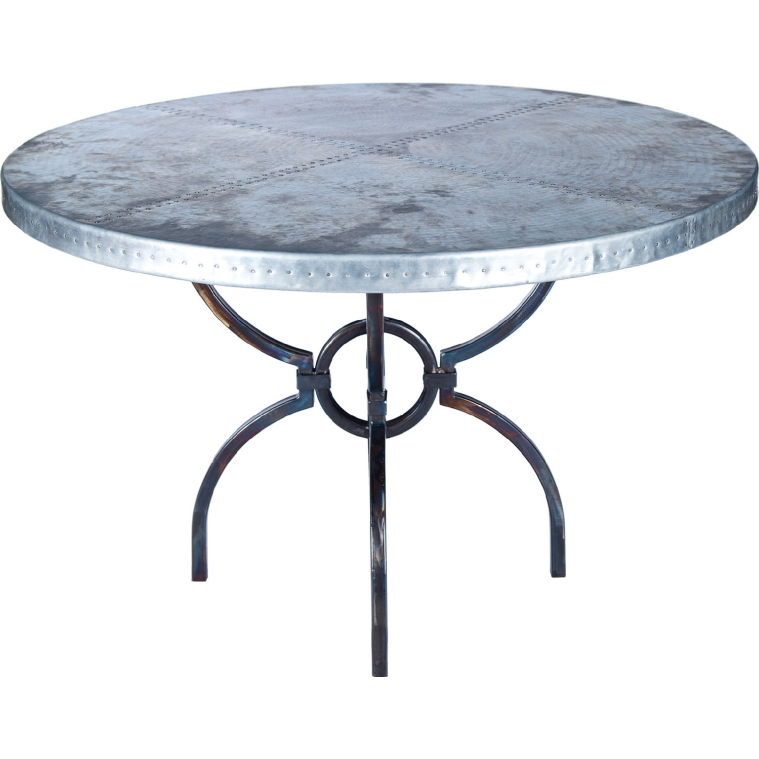 Industrial Style Round Dining Table Prima Design Source Logan Dining Table In Hand Forged Iron W 54