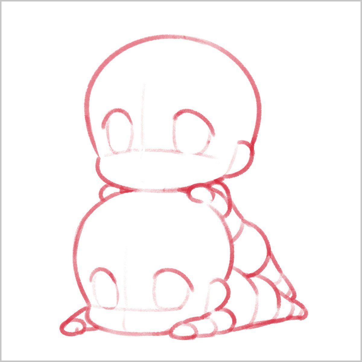 Anime couple base chibi