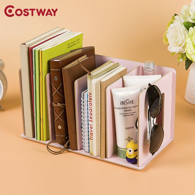costway simple bookshelves diy cd racks wooden dvd racks dormitory bedroom storage shelves bookcase boekenkast librero w0133 in bookcases from furniture on