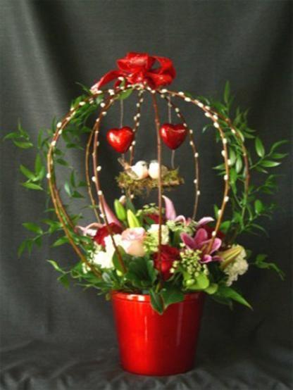 Amazing valentine flower arrangements flower bouquet for Flower arrangements for valentines