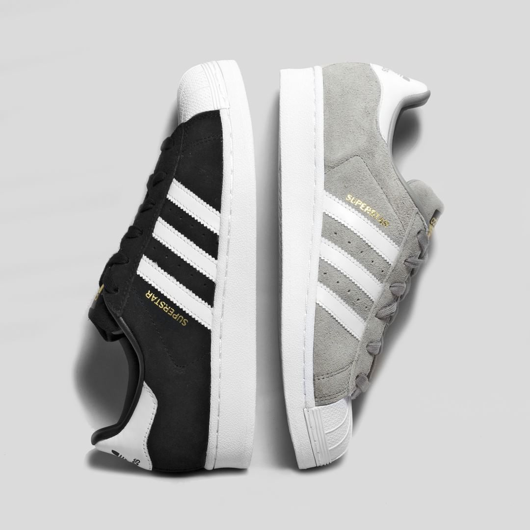 NEW IN! Black and light grey Adidas Superstar Suede