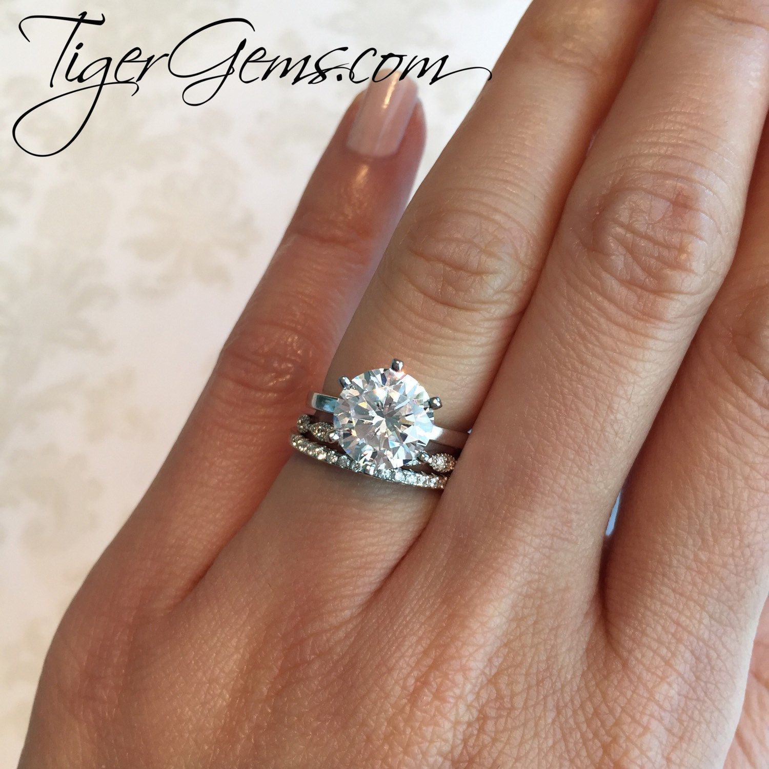 Tigergemstones Shared A New Photo On Etsy Round Solitaire Engagement Ring Women Rings Wedding Rings Solitaire