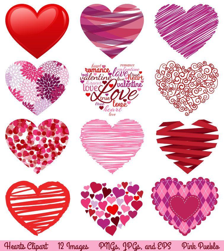 Valentine S Day Hearts Clipart Clip Art Love Clipart Clip Etsy Valentines Day Clipart Valentines Clip Valentines Day Hearts