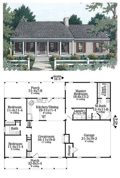 Cozy Cottage Life Ranch Style House Plans Dream House Plans Ranch House Plans