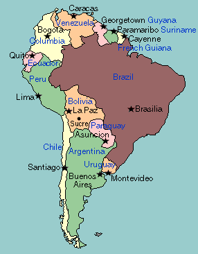 Pin by jo on info | Cities in south america, Map quiz, Country maps