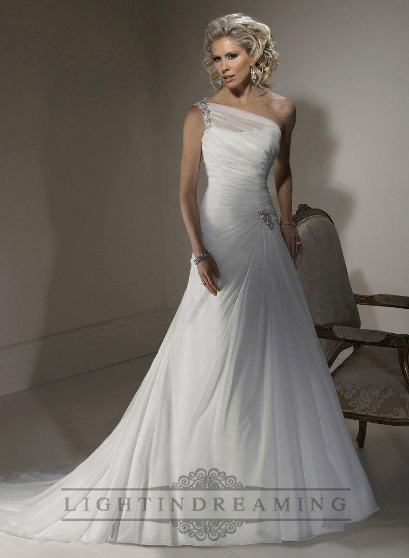 17  images about one shoulder wedding dresses on Pinterest ...
