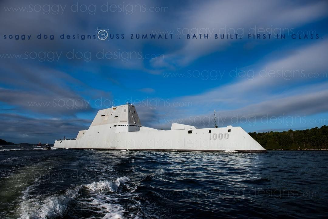 Here's to the endless hours of design dedication and teamwork that brought this vision to life. Even watching the coordination of marine craft to get Big Z out to sea is quite awe inspiring. To the #Shipbuilders all who support them and now on to the #USNavy! It's your turn!  #BathBuiltIsBestBuilt  #BIW #soggydogdesigns #photographyforealife #zumwalt #ddg1000