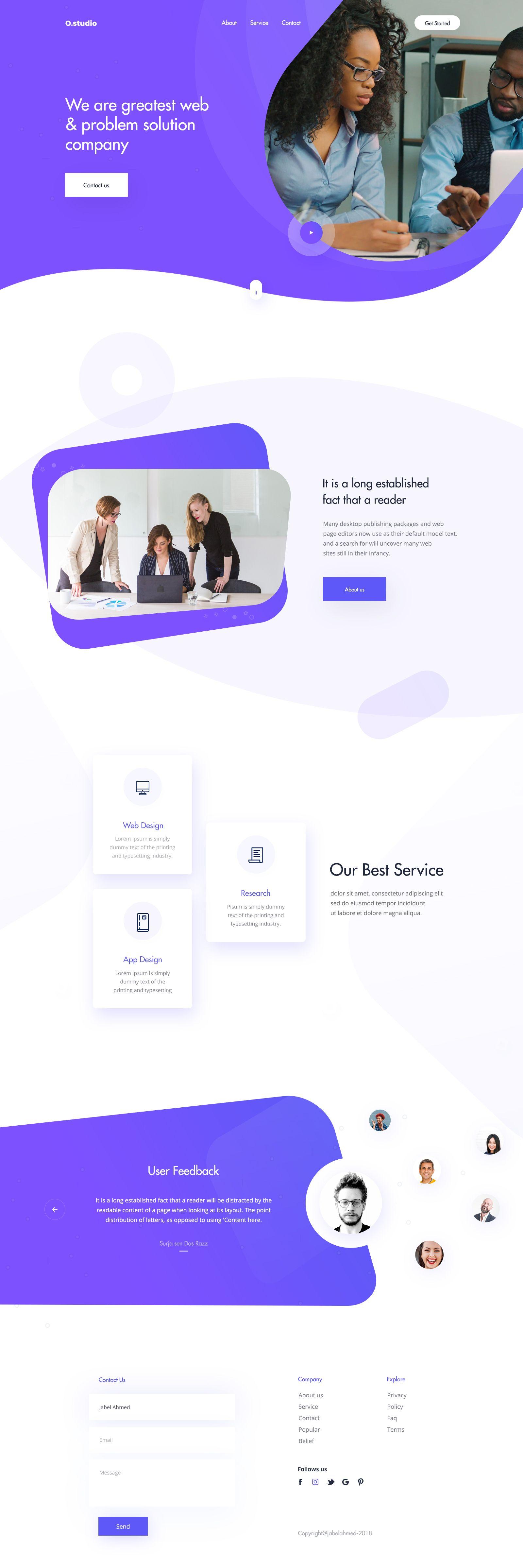 Landing Page Psd 02 Web Design Marketing Website Design Company Web Design Tips