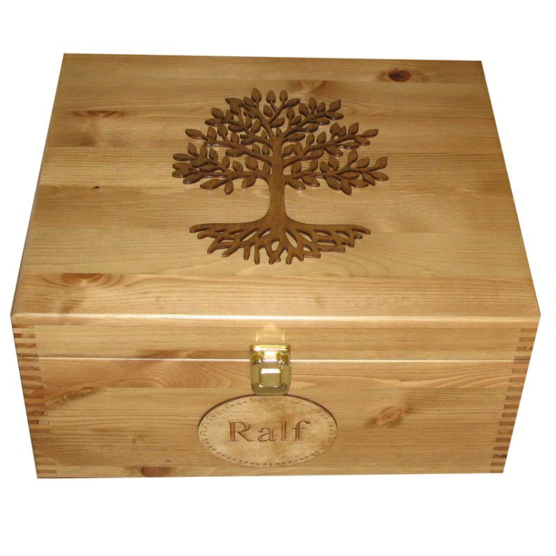 Large Keepsake Boxes Personalised Wooden Lacquered Tree of Life ...