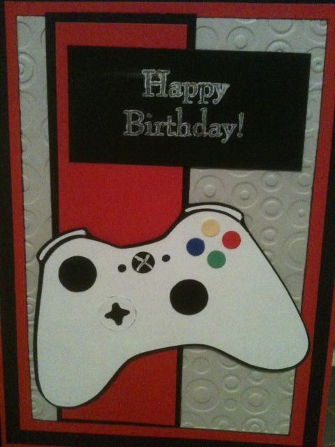 Video Game Controller Card Made With Cricut For My 15 Year Old Grandson