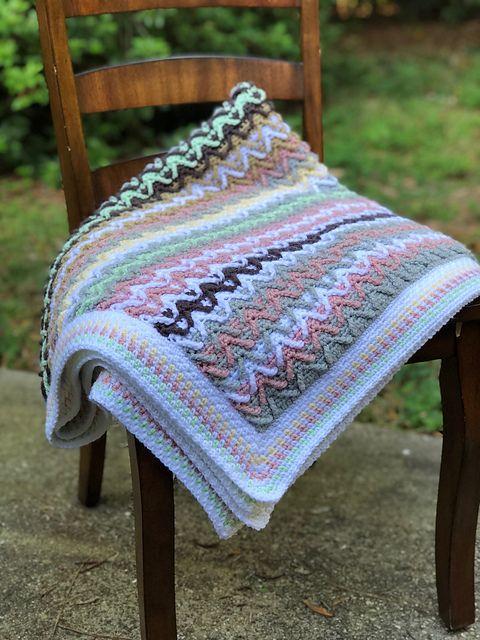 Fawn River Blanket Free Crochet Pattern   DailyCrochetIdeas ...