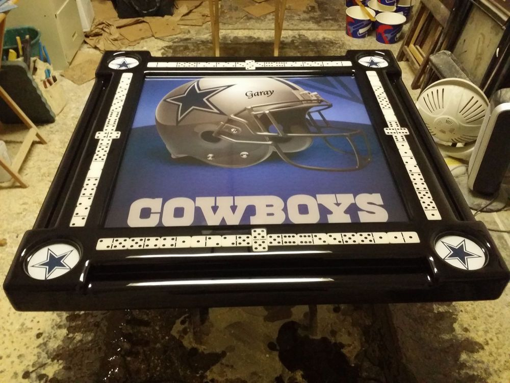 Dallas Cowboys Personalized Domino Tables By Art With Your Name On Helmet