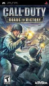 Call Of Duty Roads To Victory Psp Game Call Of Duty Victorious Psp