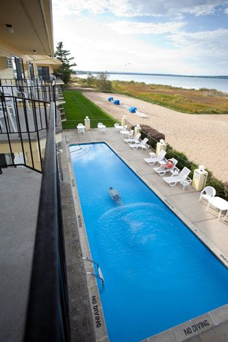 Traverse City Pointes North Beachfront Resort Hotel Pool Beach And Bay It S The Best Of All Worlds At