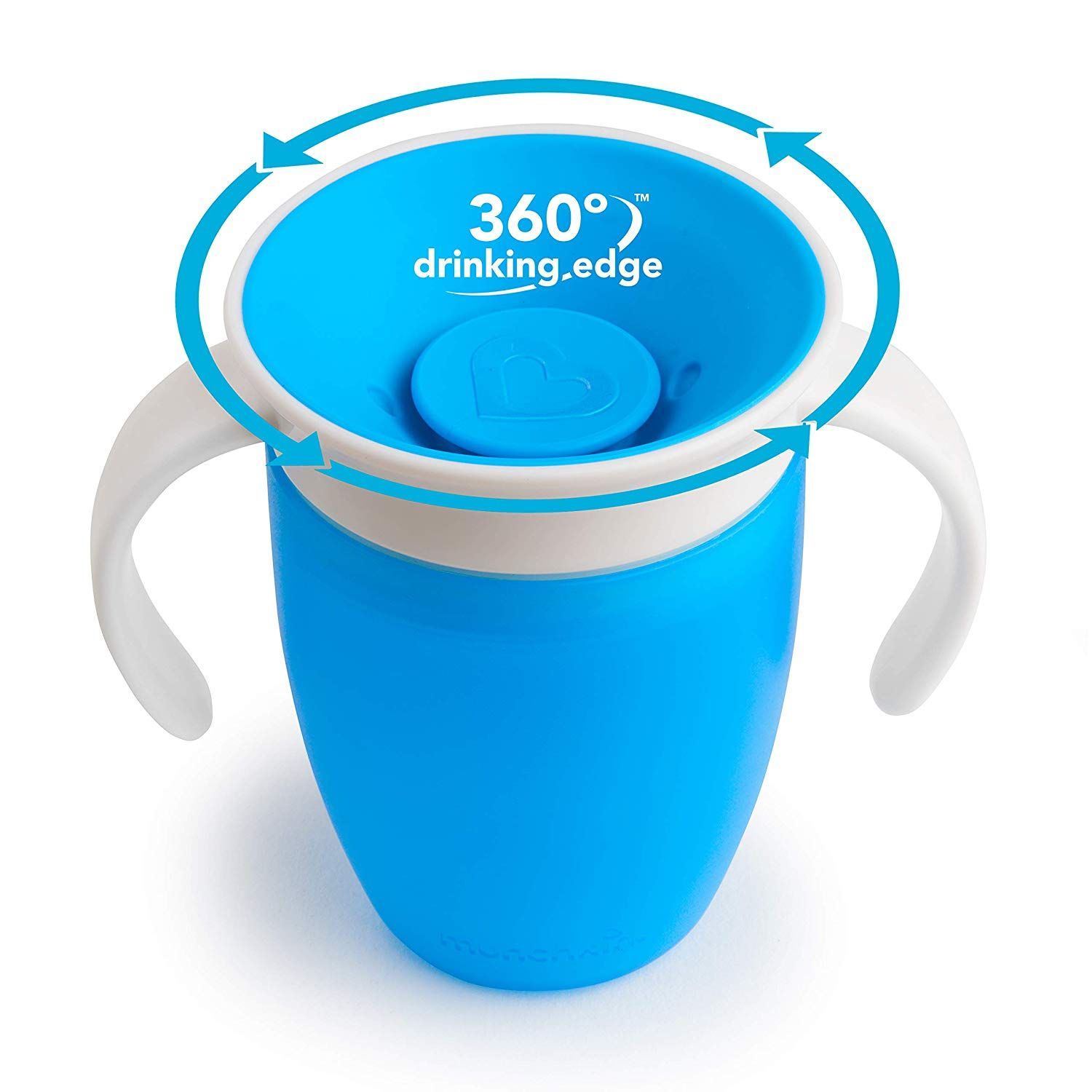 Set Of Two 2 7 Ounce Toddler Cups With Dentist Recommended Spoutless Design 360 Degree Drinking Edge Eliminates Spills Complet In 2020 Toddler Cup Sippy Cup Munchkin