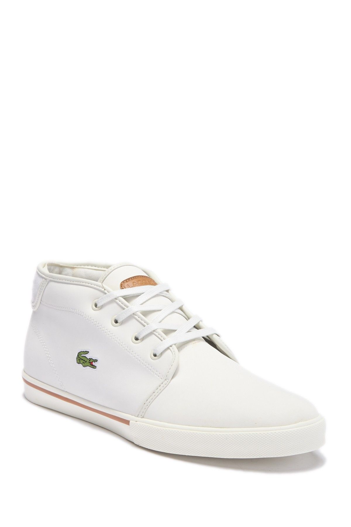 leather mens lacoste trainers