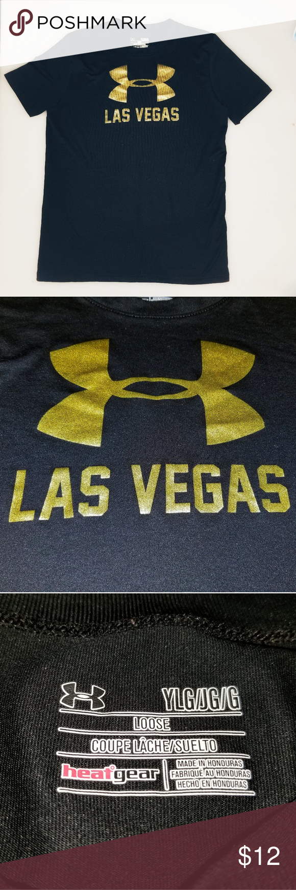 Under Armour Heatgear Las Vegas Short Sleeve Large Under Armour Under Armour Shirts Short Sleeve