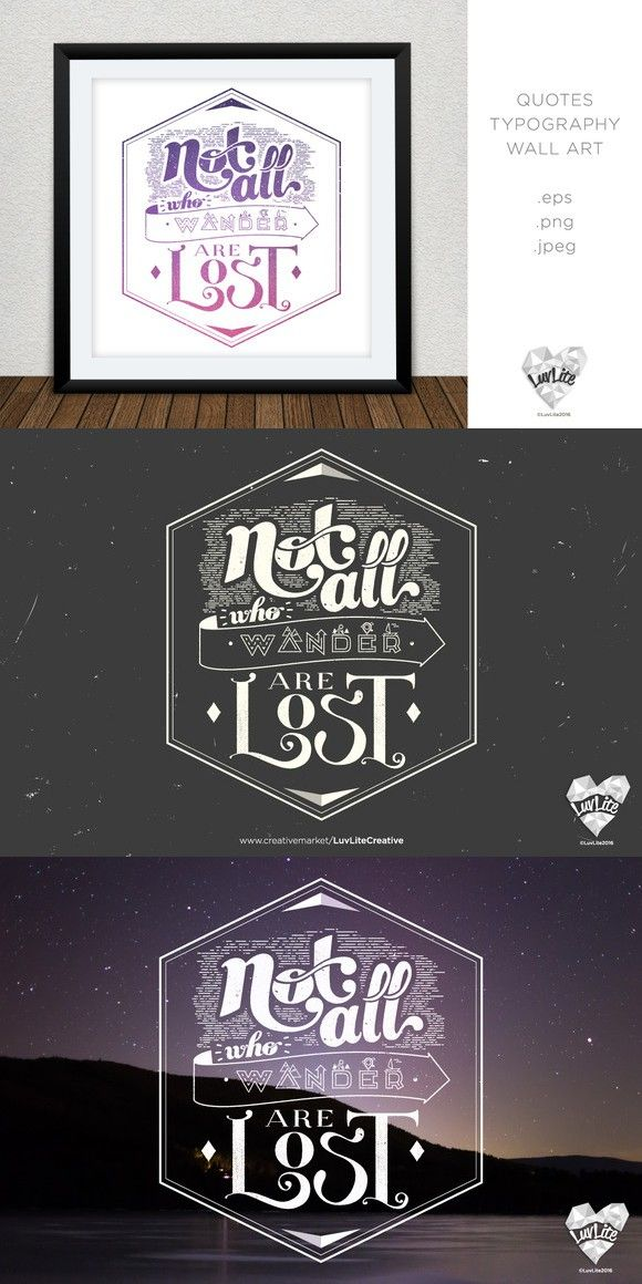 Not All Who Wander are Lost. Poster Templates. $5.00