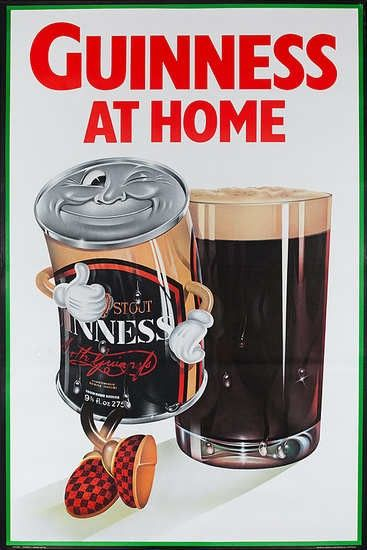 Guinness At Home Cartoon Can Poster In Solopress Printing