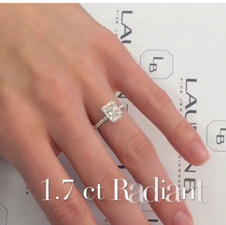Lauren B Jewelry Custom Version Of Their Sor15747 170 Ct Radiant Cut Engagement  Ring