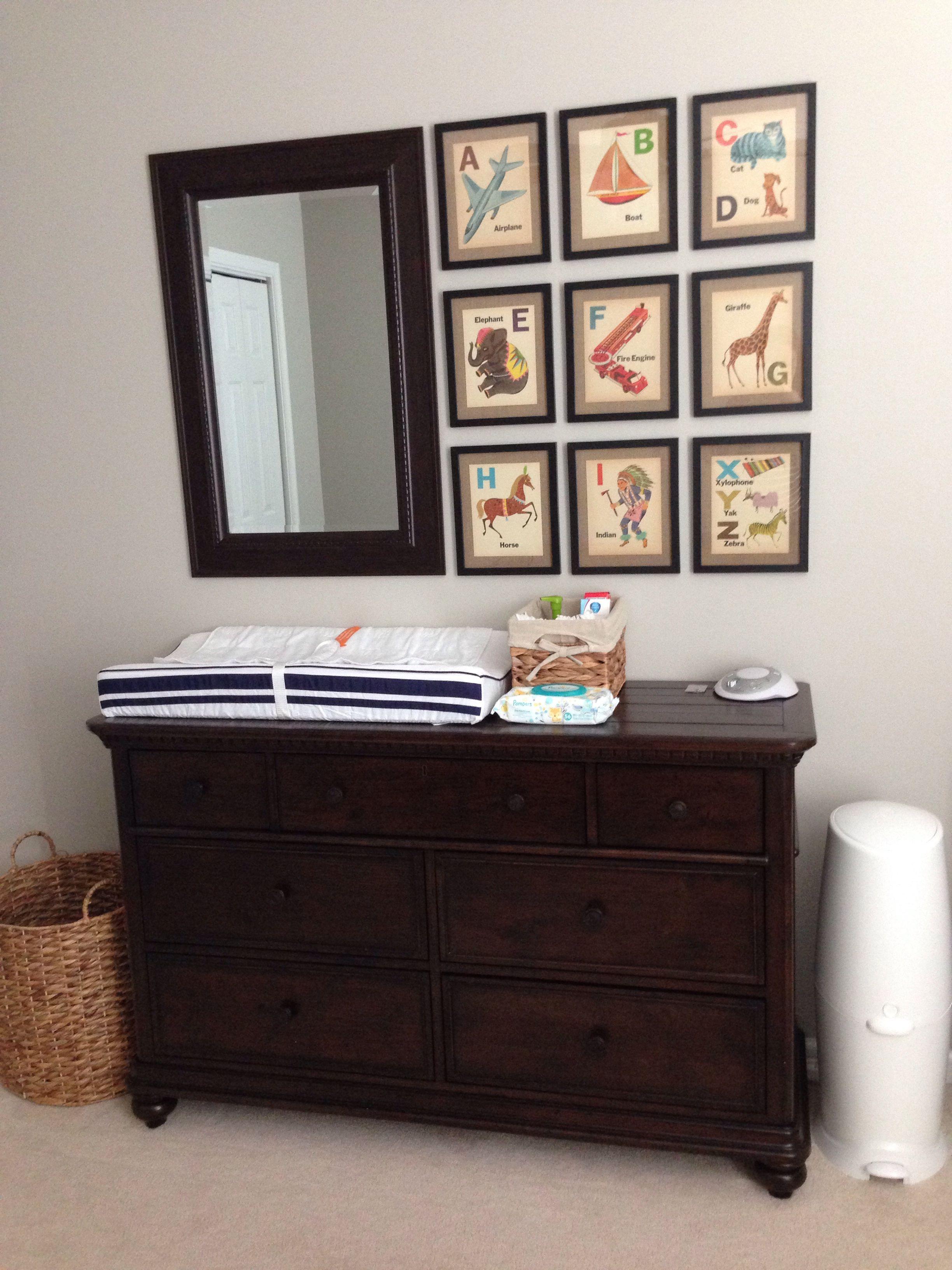 Brooks nursery Smartstuff furniture dresser Tar mirror