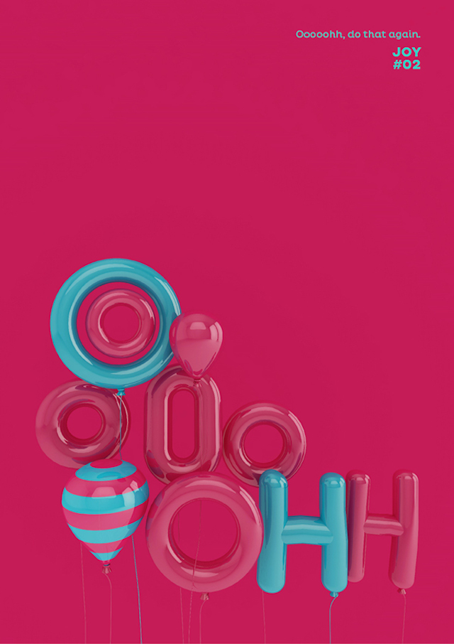 Bring the Joy Posters-11 #3dtypography