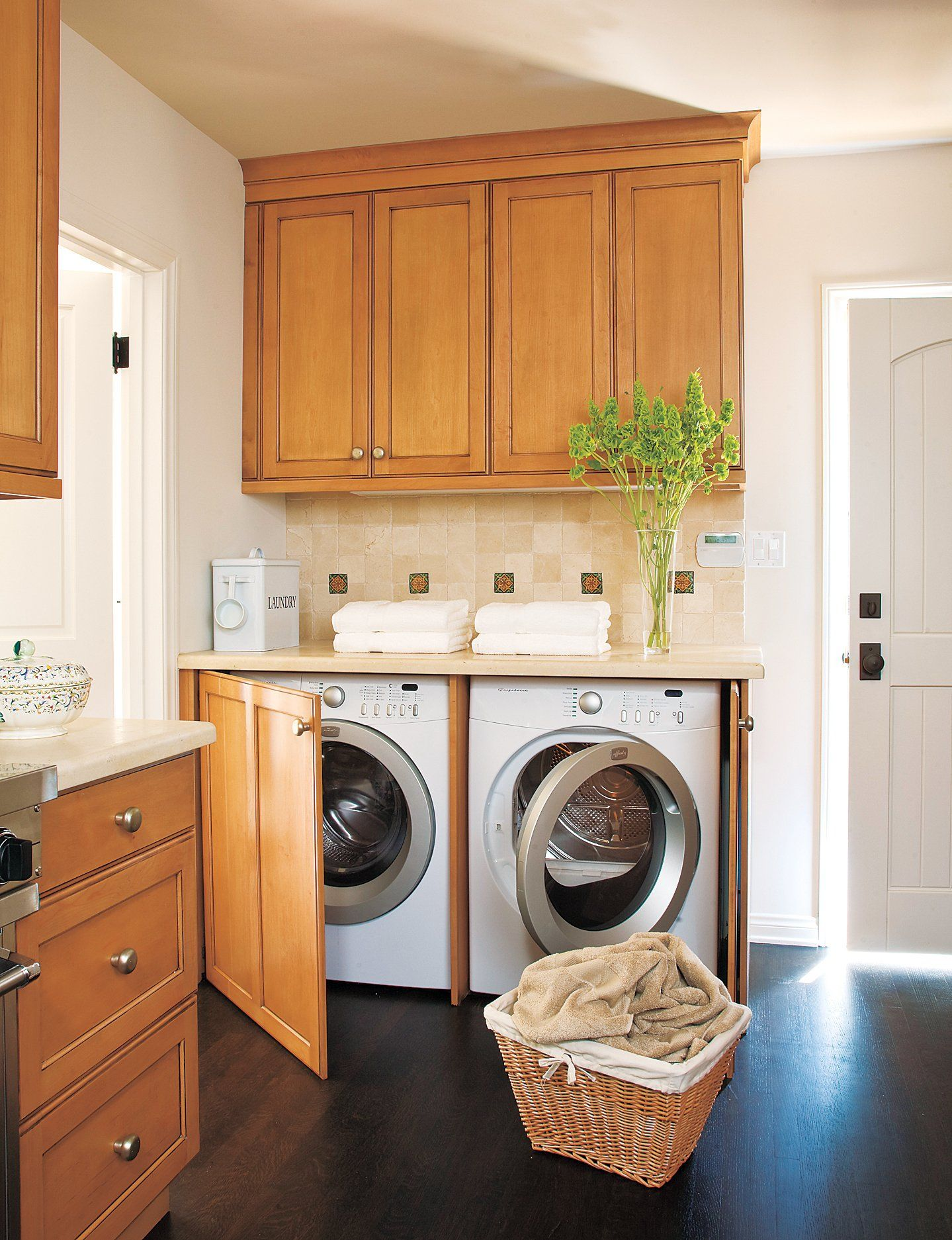 Wash, Dry, Repeat  Washer and dryer, Laundry room, Laundry in kitchen