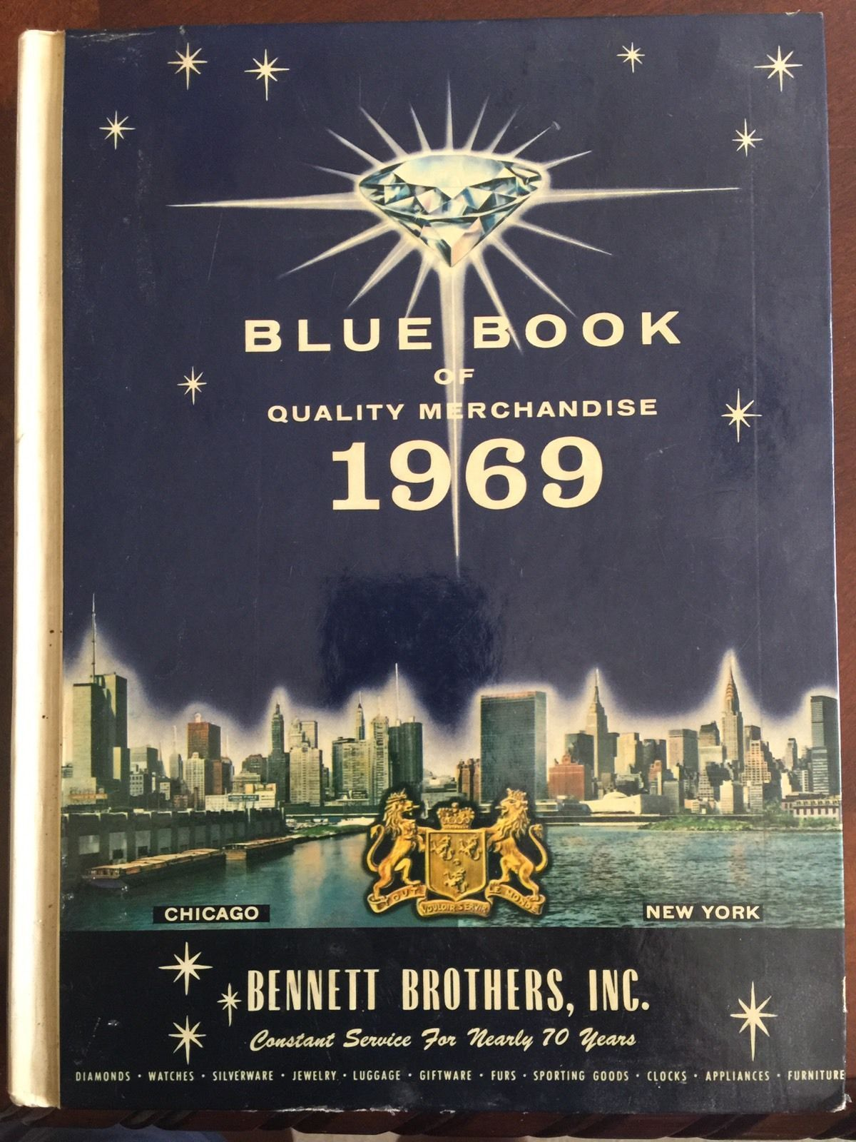 Blue Book of Quality Merchandise 1969 by Bennett Brothers Watches Guitars Furs