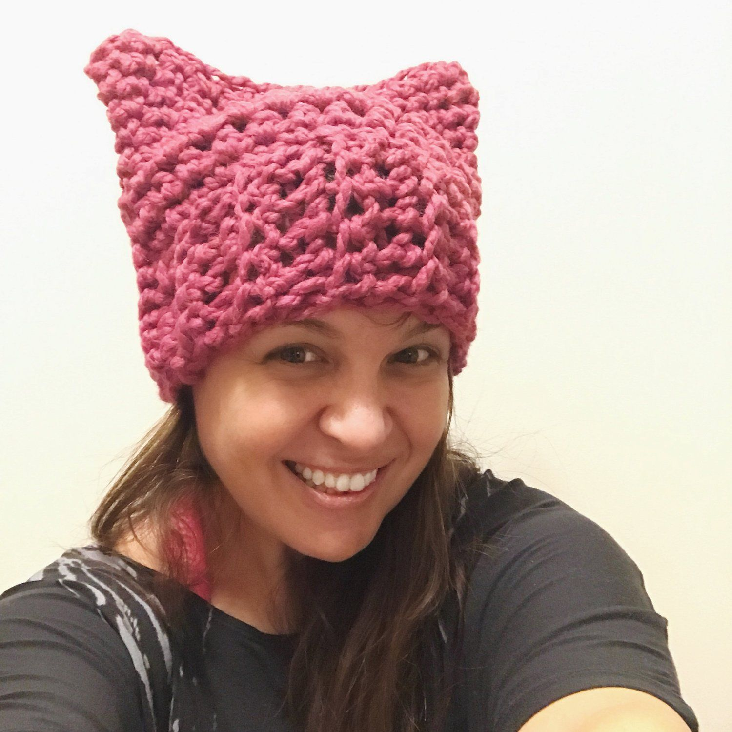 52242559fd4 Pink Cat Hat Free Crochet Pattern — Stitch   Hustle
