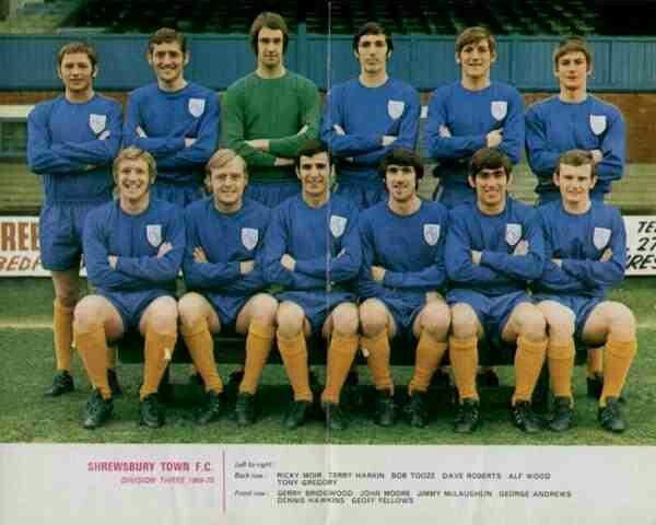 Shrewsbury Town team group in 1969-70.