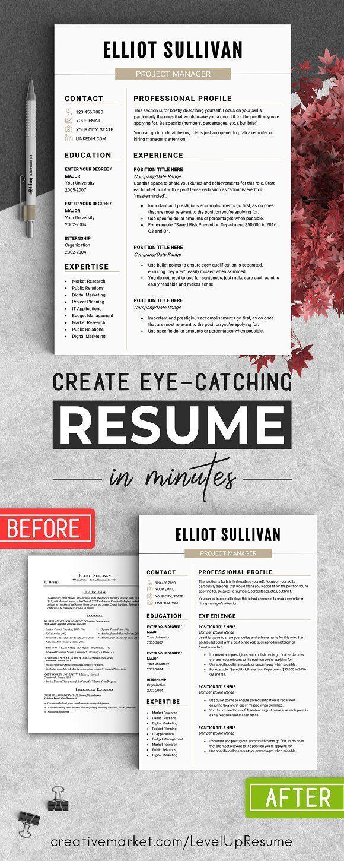 RESUME Design CV Template (MS Word) | Pinterest
