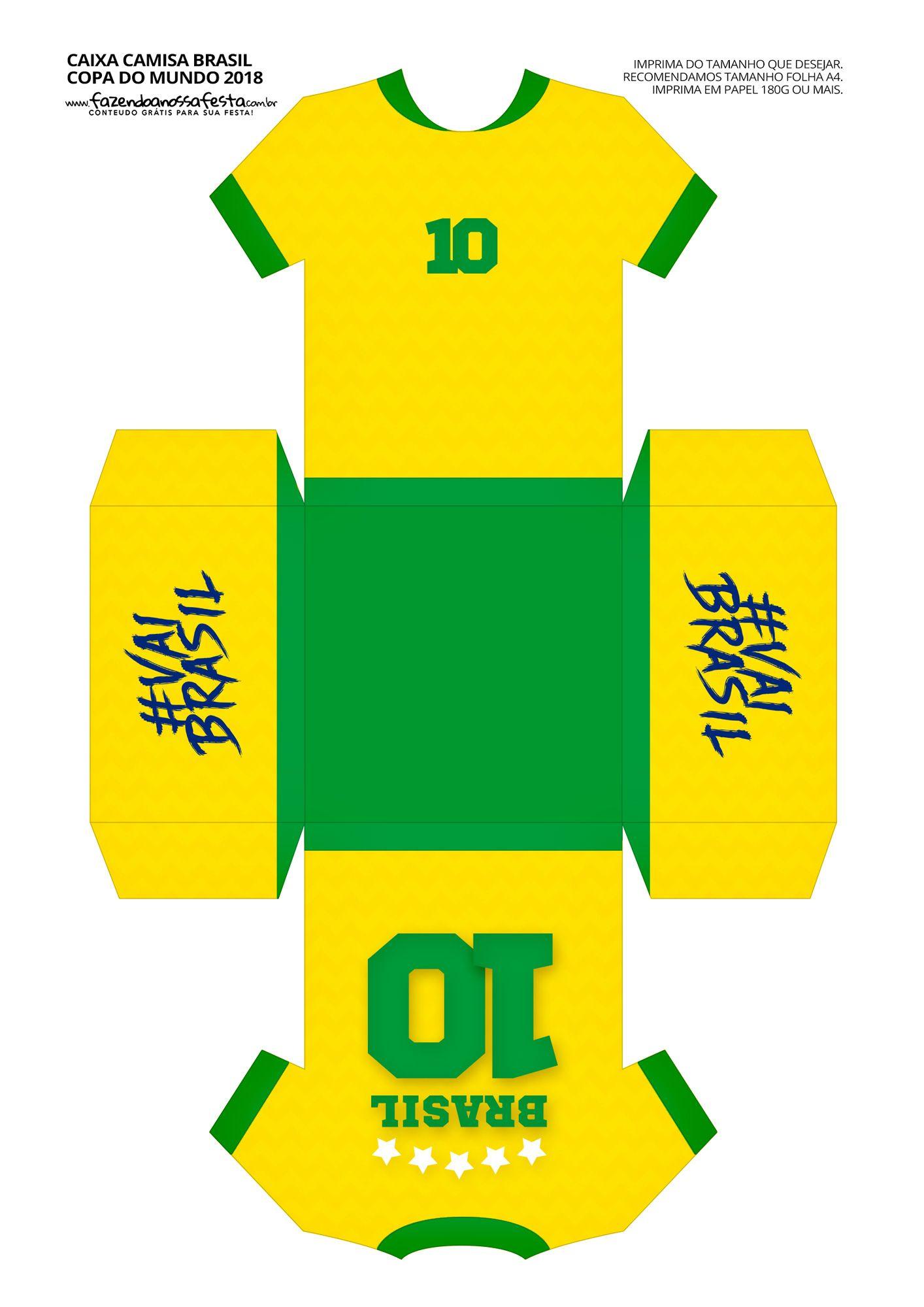 Caixa Camisa Copa Do Mundo Molde Camisa Copa Copa Do Mundo