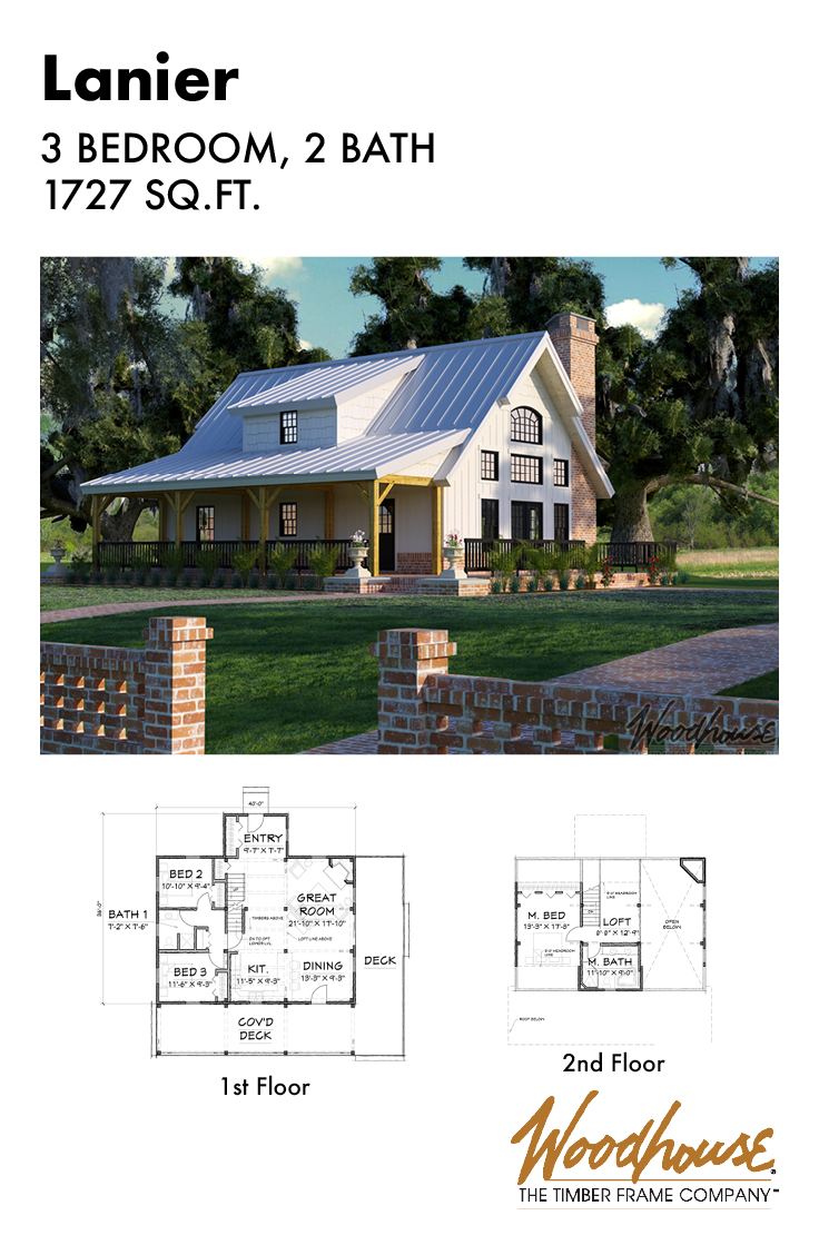 This Timber Frame Cottage Combines All The Great Features Of A Quaint Country Cottage But With A Modern Twist Lake House Plans Cottage Plan Barn House Plans