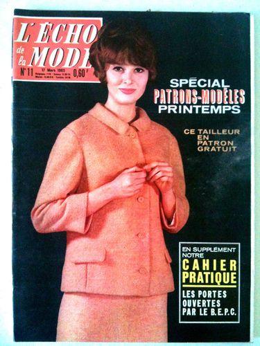 L'echo de la mode n° 11 année 1963