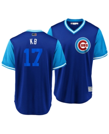 163386bf8 Majestic Men's Kris Bryant Chicago Cubs Players Weekend Replica Cool Base  Jersey - Blue L