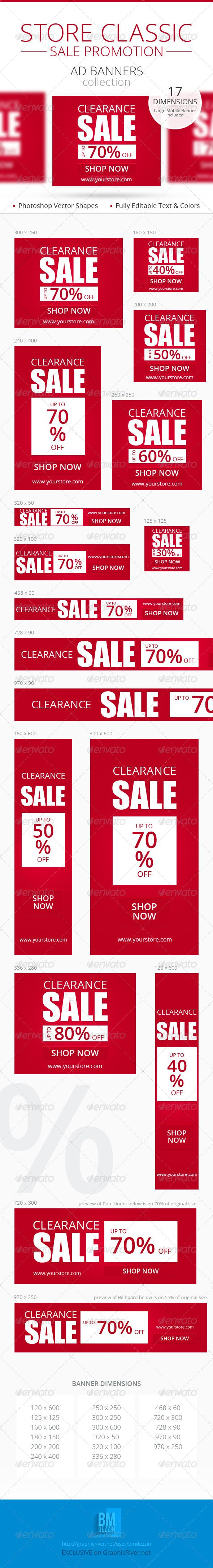 Store Classic Sale Promotion Web Ad Banners – Sales Promotion Template