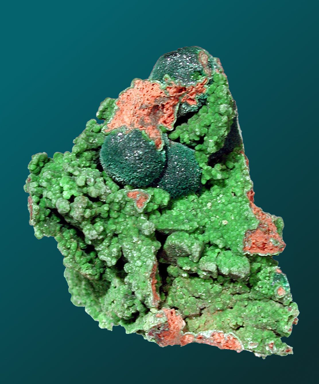 Rosasite from Tsumeb, Namibia