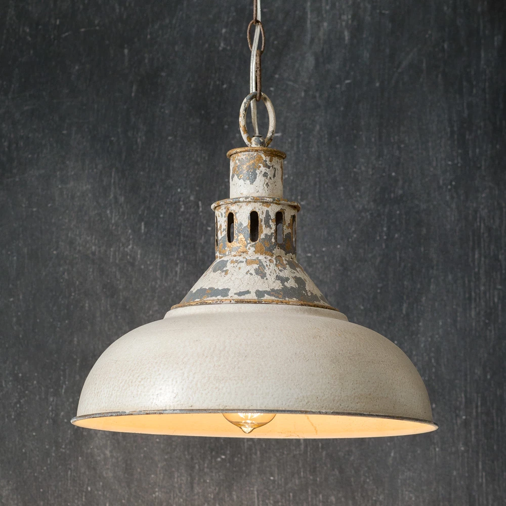 Distressed White Barn Pendant Light Farmhouse Fresh Home Farmhouse Pendant Lighting Farmhouse Pendant Pendant Light