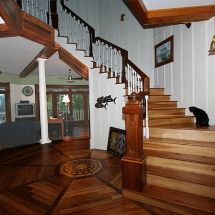 The Octagon House stairway