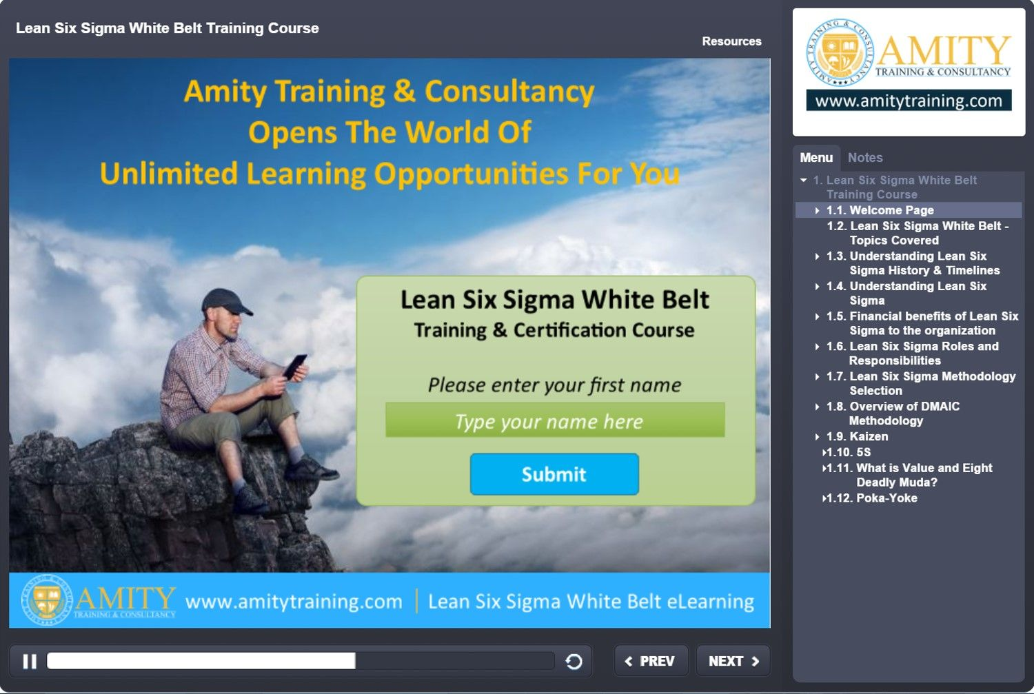 Free Lean Six Sigma White Belt Training Course At Www