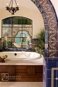 Image result for spanish style bathrooms