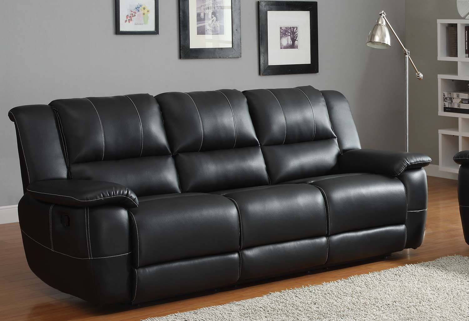 Black leather sofa and chair set best collections of