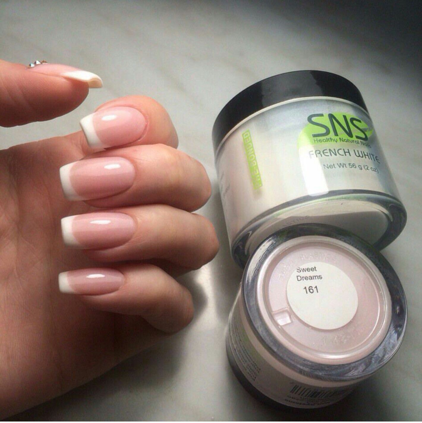 Dipping Powder Aka Healthy Nails On Top Of My Natural Nails Colors French White And Pink 1 It S Durable Doesn T C Healthy Nails Dipped Nails Natural Nails