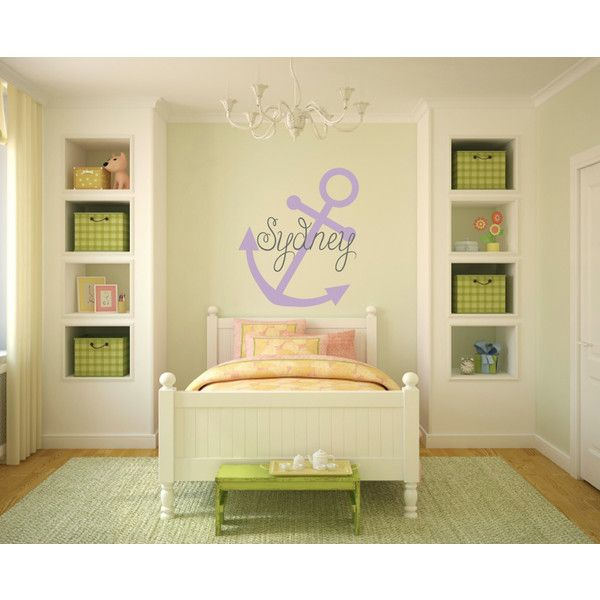 Anchor Wall Decal Nautical Wall Decal Large Anchor Vinyl Decal ...